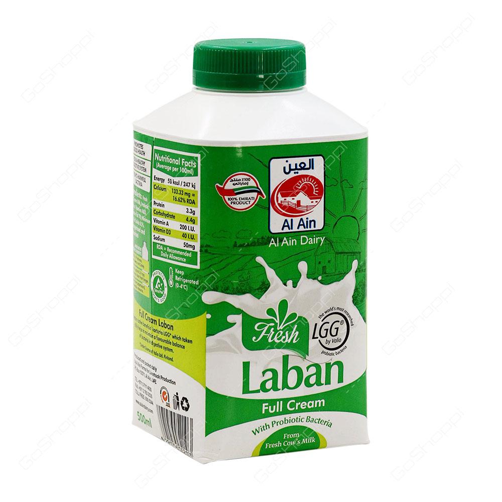 Al Ain Fresh Laban Full Cream 500 ml