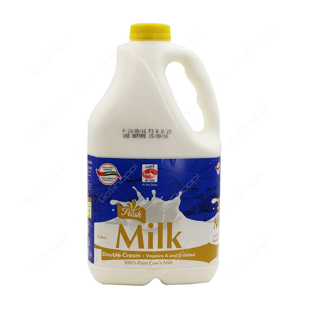 Al Ain Fresh Milk Double Cream 2 l