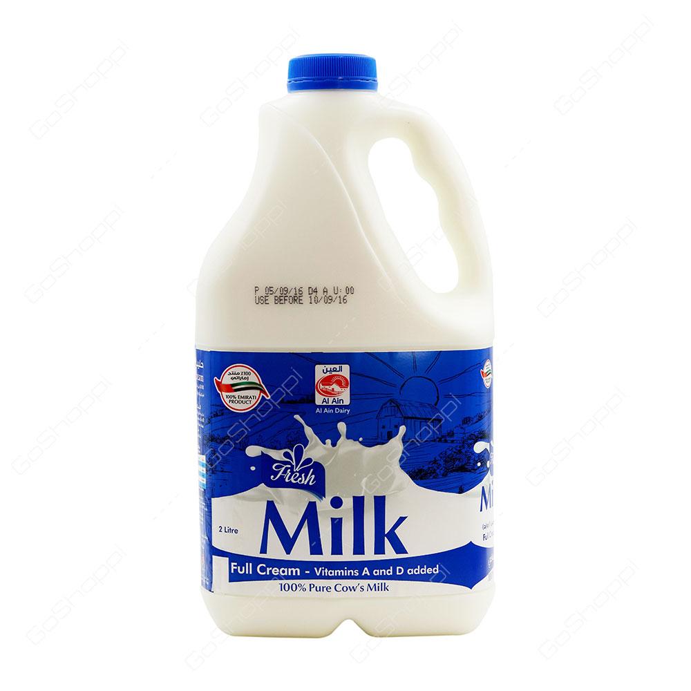 Al Ain Fresh Milk Full Cream 2 l