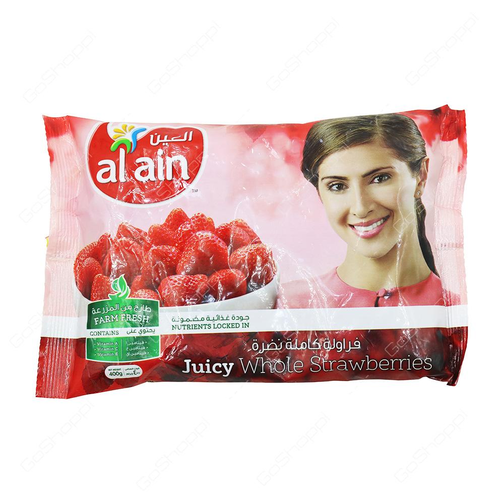 Al Ain Juicy Whole Strawberries 400 g
