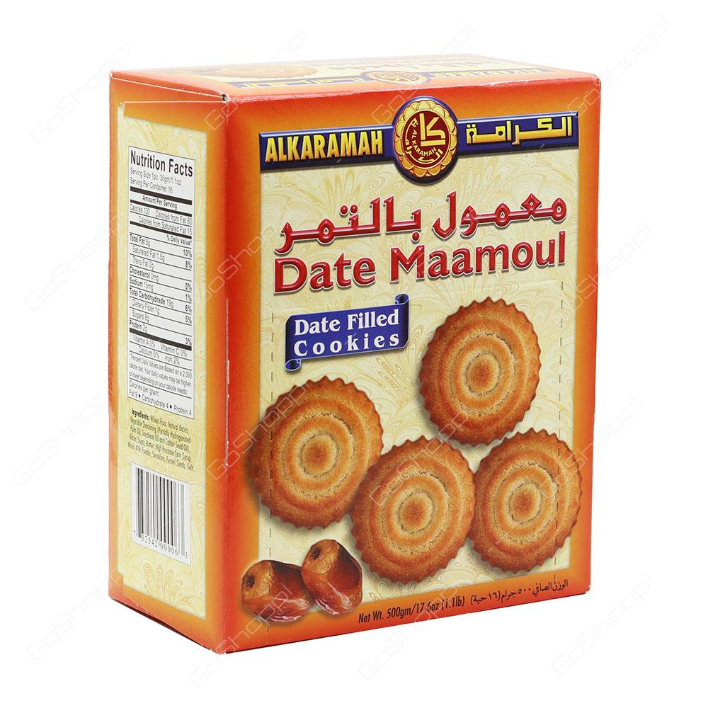 Al Karamah Date Maamoul Date Filled Cookies 500 g