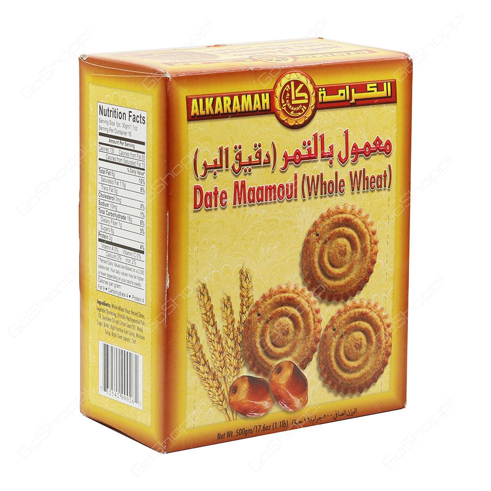 Al Karamah Date Maamoul Whole Wheat 500 g