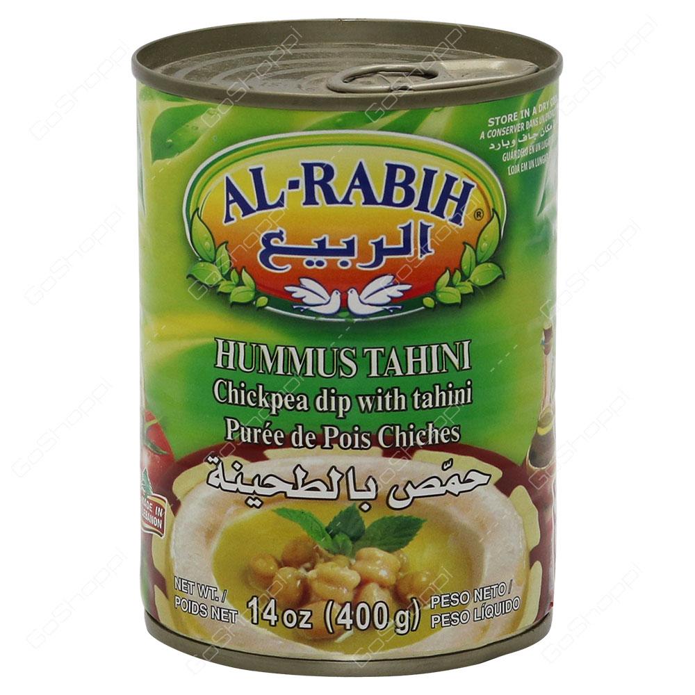 Al Rabih Hummus Tahini Chickpea Dip With Tahini 400 g