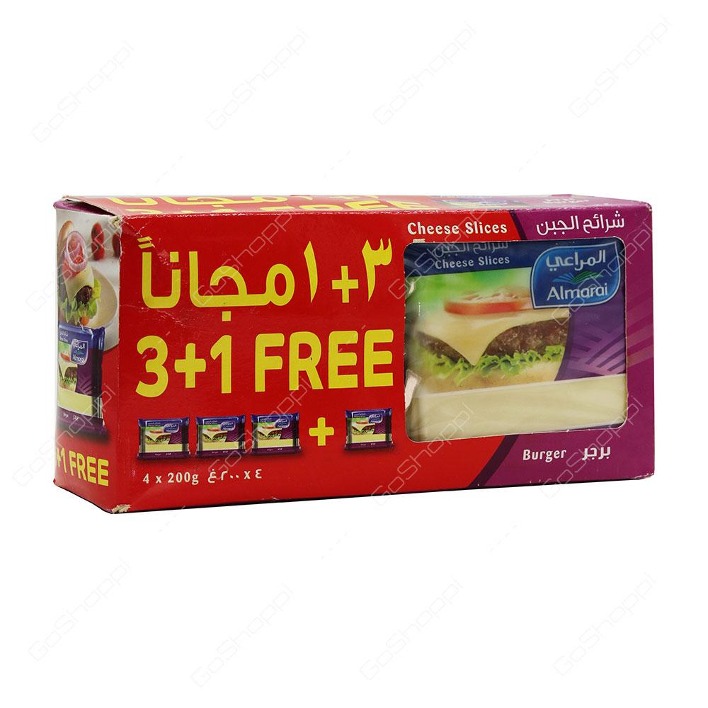 Almarai Burger Cheese Slices 4X200 g