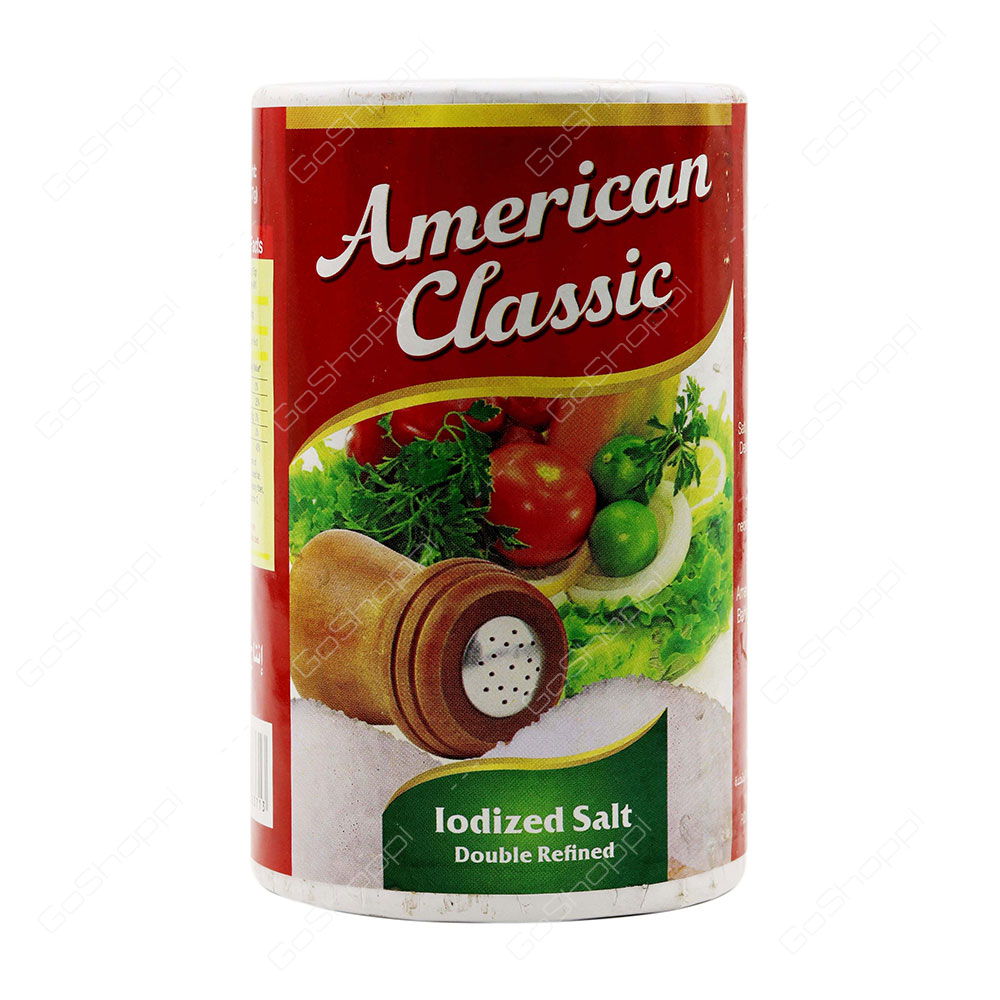 American Classic Iodized Salt Double Refined 737 g
