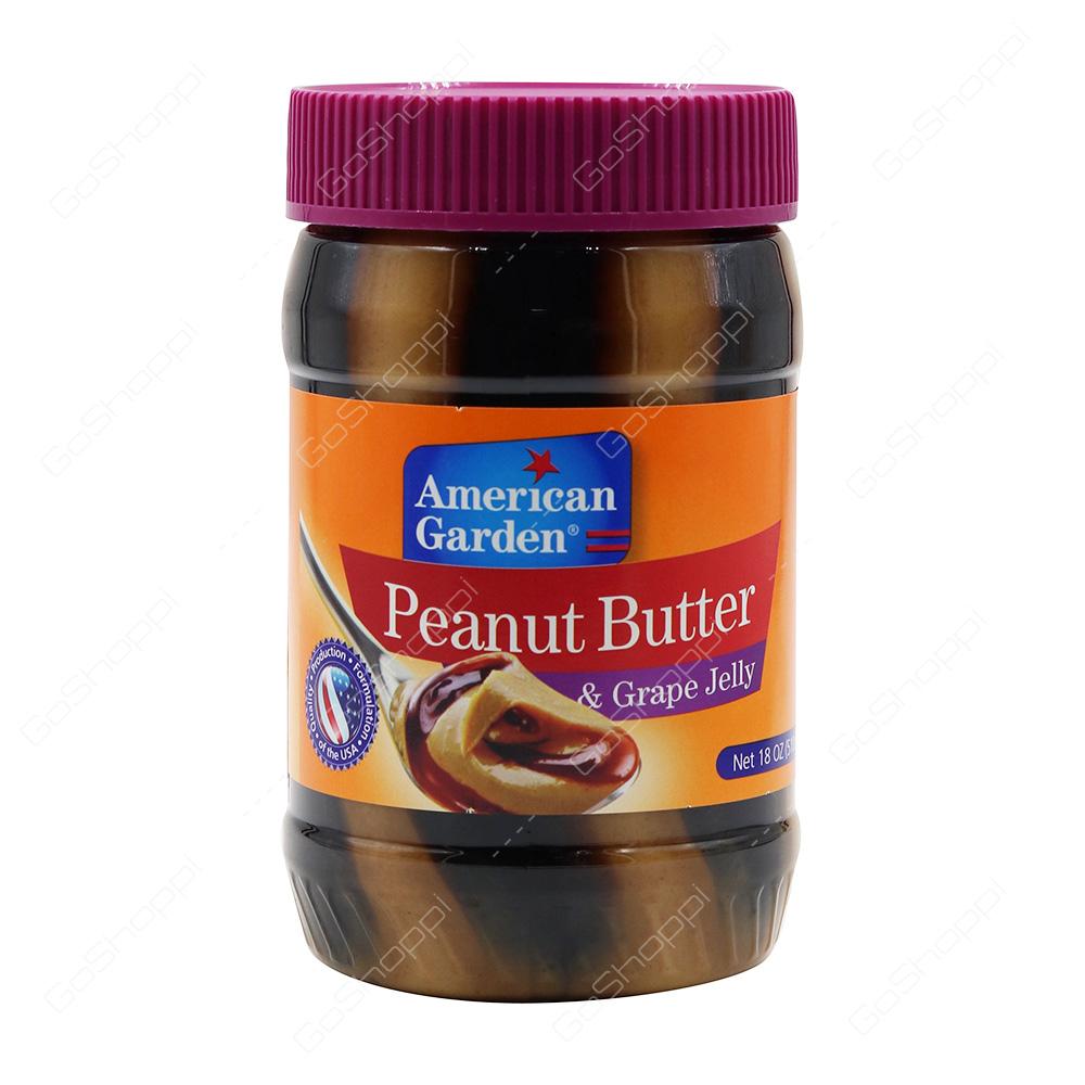 American Garden Peanut Butter and Grape Jelly 510 g