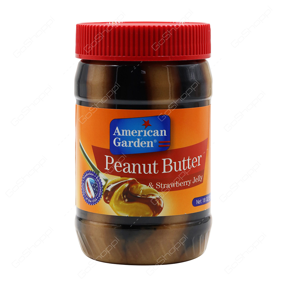 American Garden Peanut Butter and Strawberry Jelly 510 g