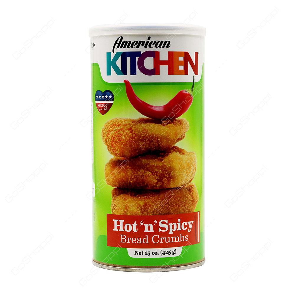 American Kitchen Hot n Spicy Bread Crumbs 425 g