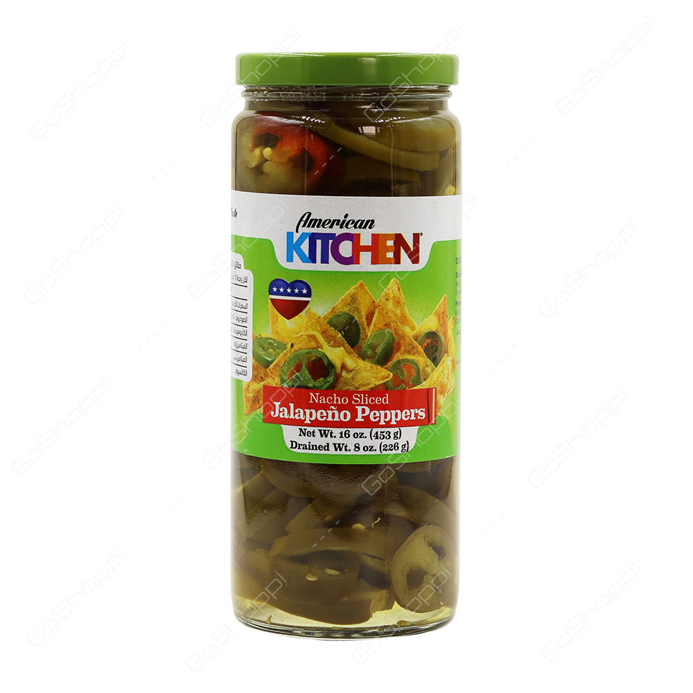 American Kitchen Nacho Sliced Jalapeno Peppers 453 g