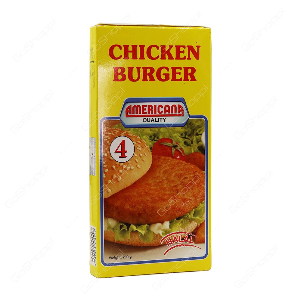 Americana Quality Chicken Burger Halal 4 pcs