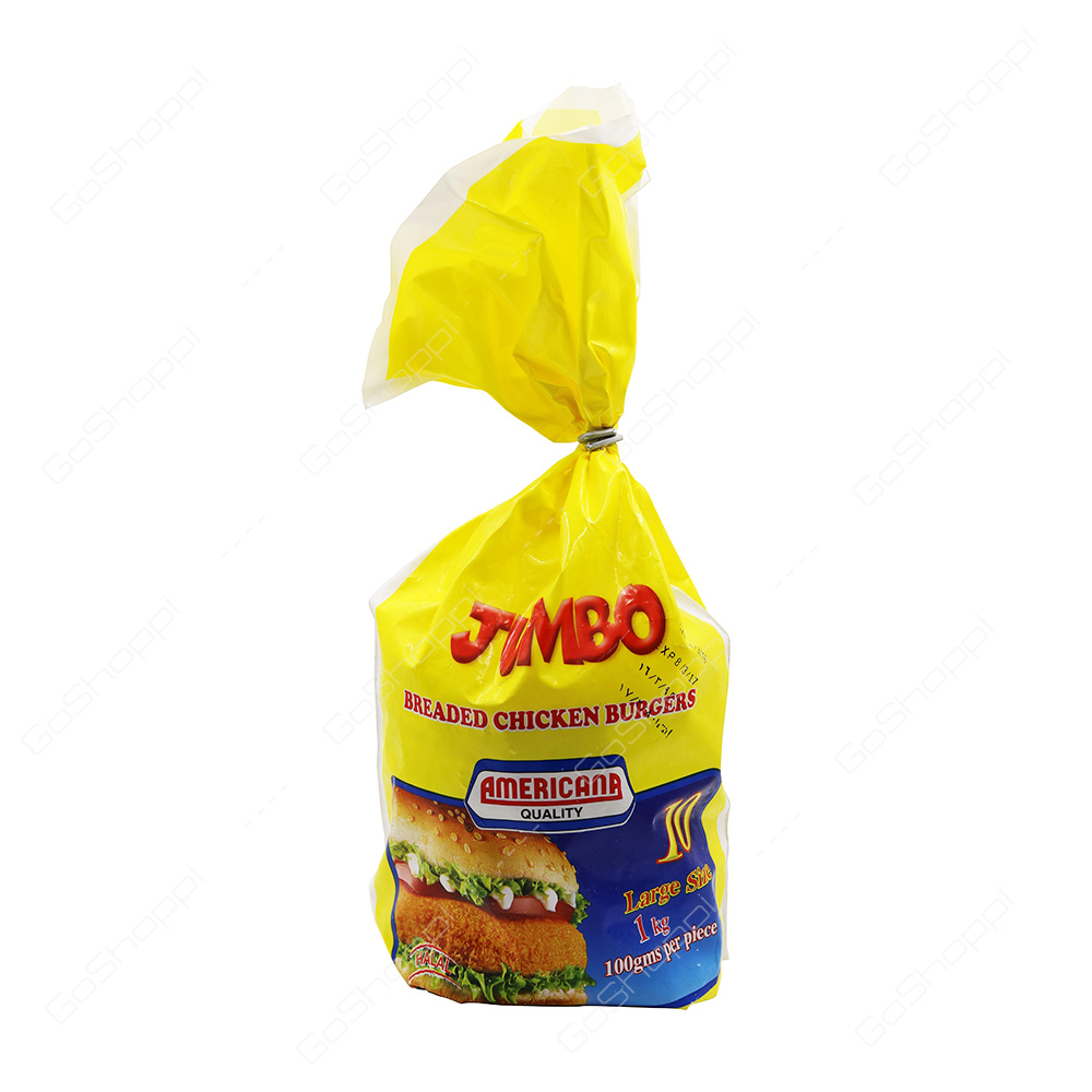 Americana Quality Jumbo Breaded Chicken Burgers 1 kg