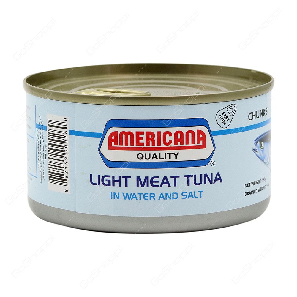 Americana Quality Light Meat Tuna In Water And Salt Chunks 185 g