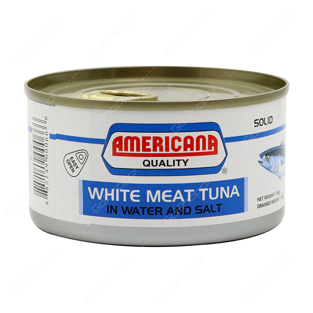 Americana Quality White Meat Tuna In Water And Salt Solid 185 g