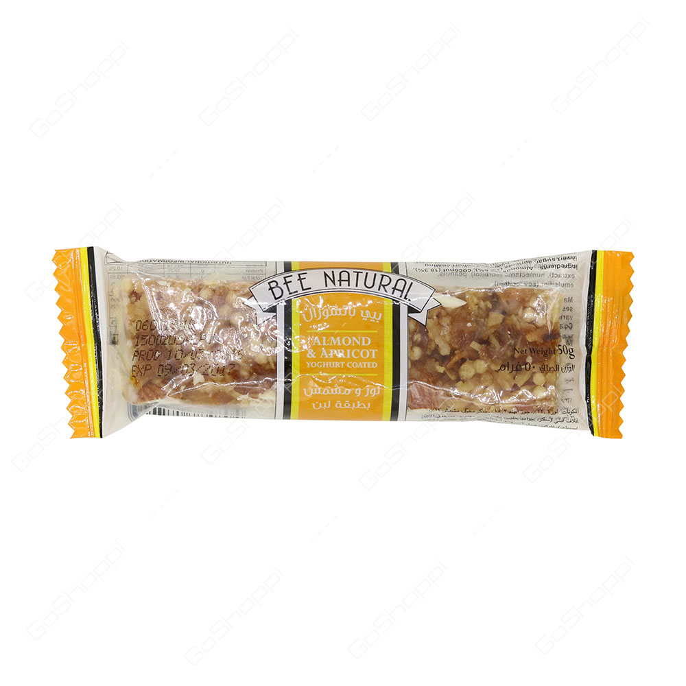 Bee Natural Almond And Apricot Yoghurt Coated Bar 50 g