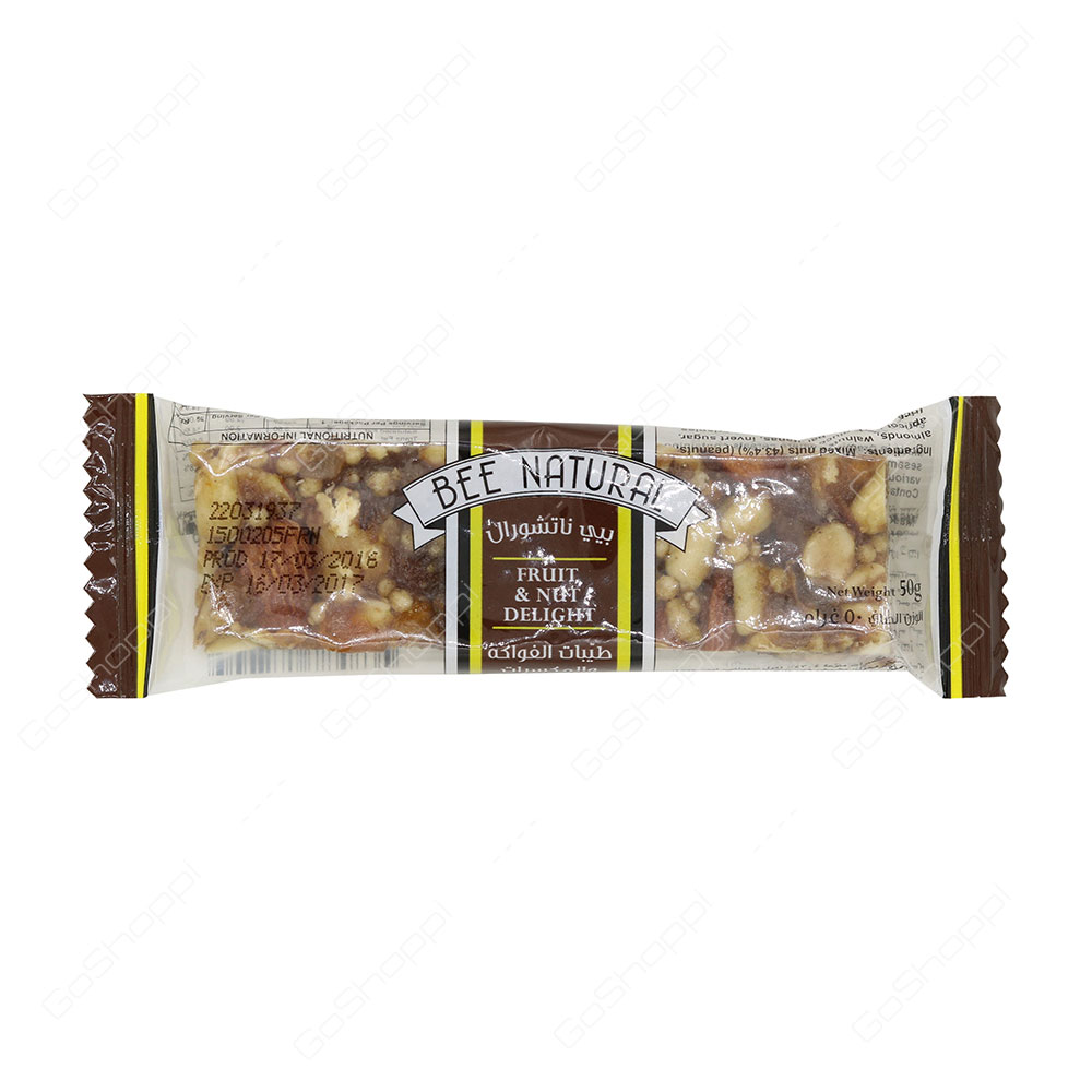 Bee Natural Fruit And Nut Delight Bar 50 g
