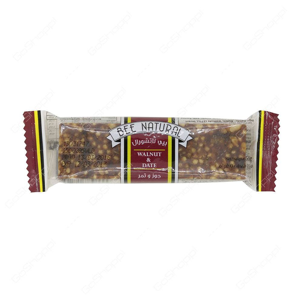 Bee Natural Walnut And Date Bar 50 g