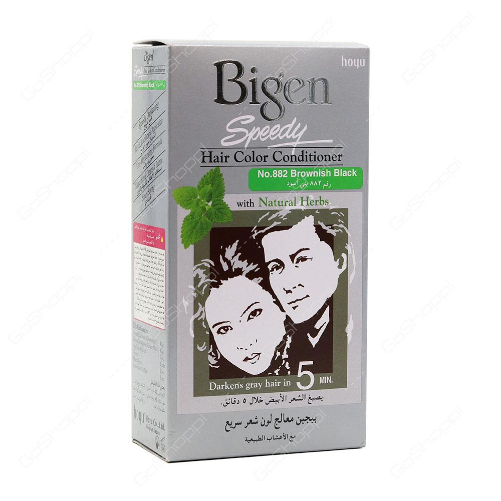 Bigen Speedy Hair Color Conditioner No 882 Brownish Black 80 g