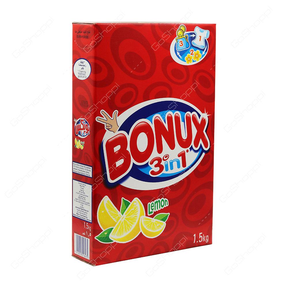 Bonux 3 in 1 Lemon Washing Powder 1.5 kg