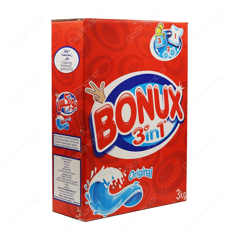 Bonux 3 in 1 Original Washing Powder 3 kg