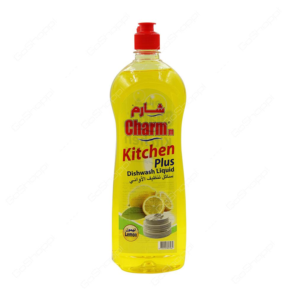 Charmm Kitchen Plus Dishwash Liquid Lemon 1 l
