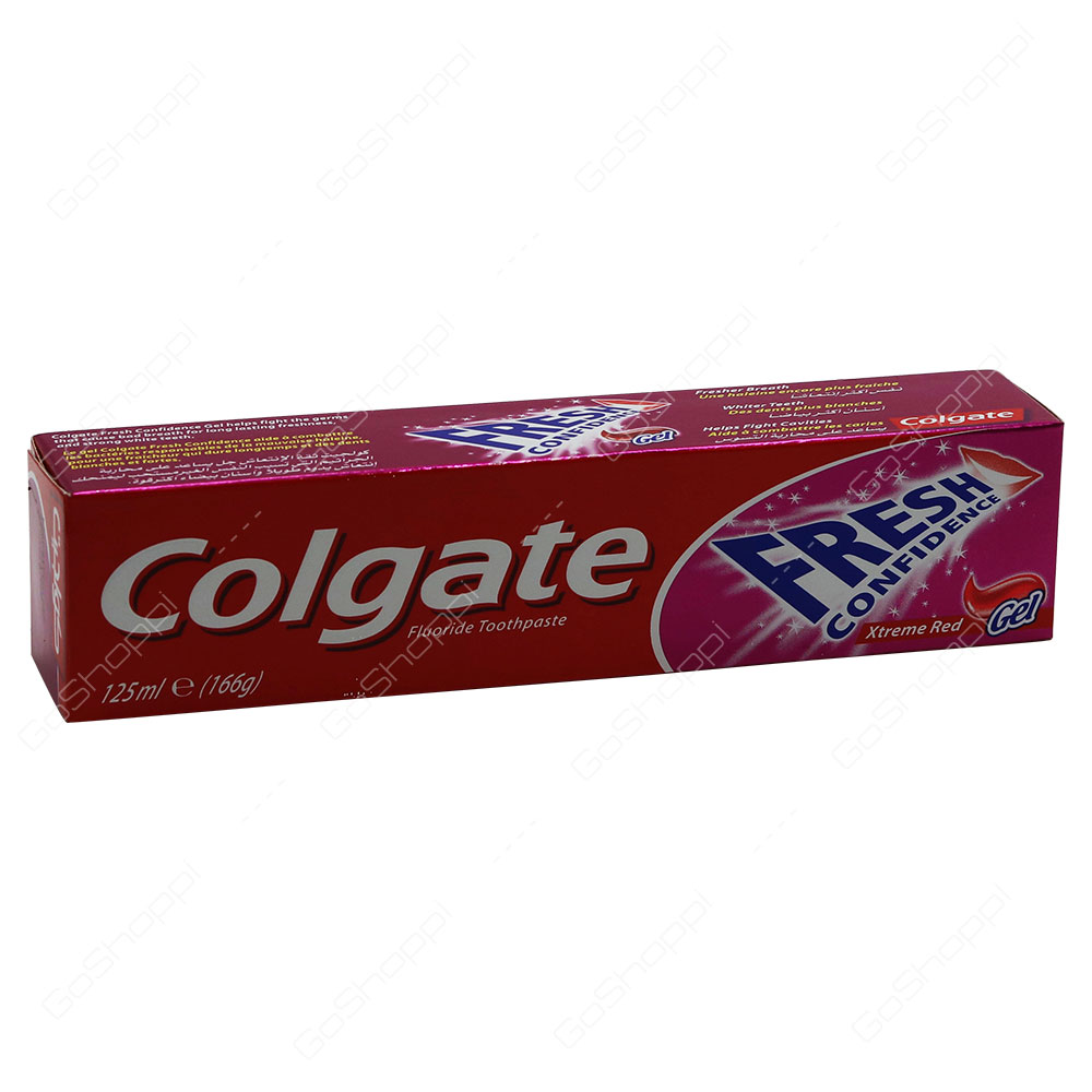 Colgate Fresh Confidence Xtreme Red Gel Fluoride Toothpaste 125 ml