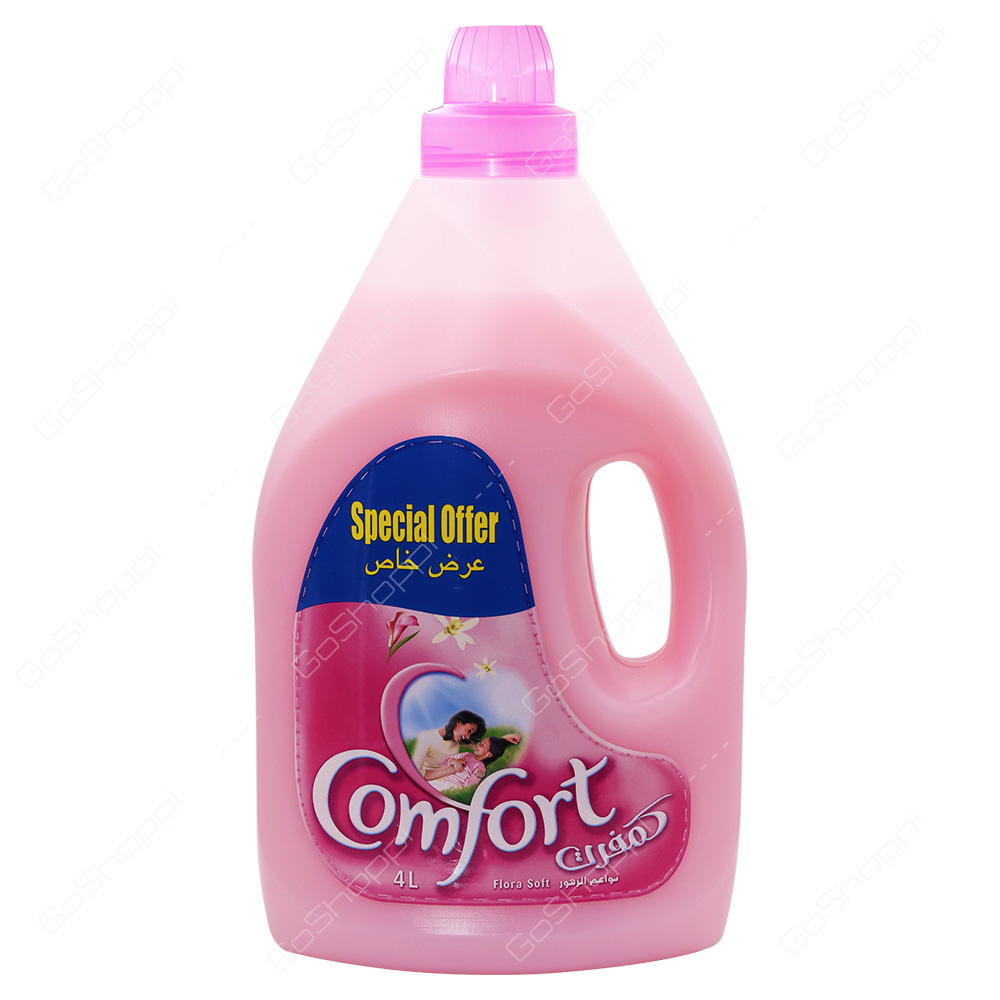 Comfort Concentrated Fabric Conditioner Flora Soft 4 l