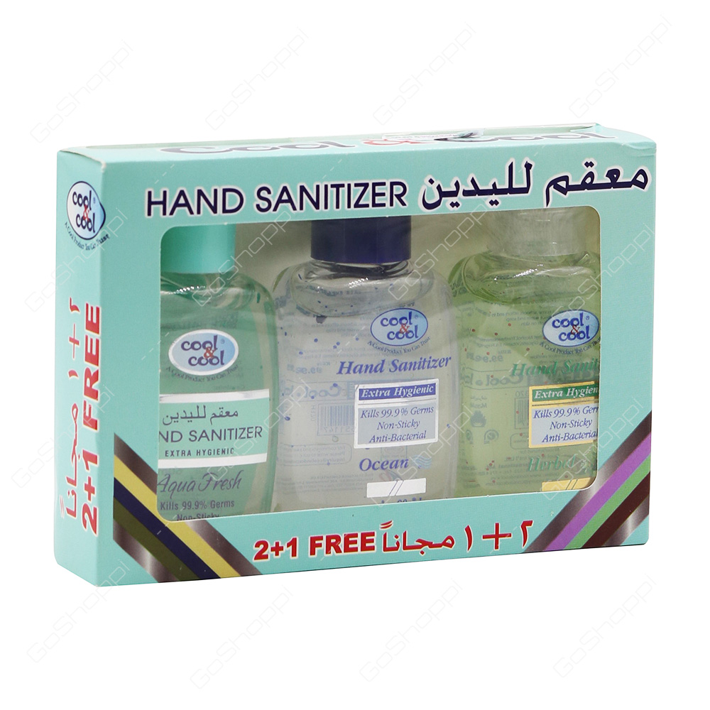 Cool And Cool Hand Sanitizer Assorted 3X60 ml