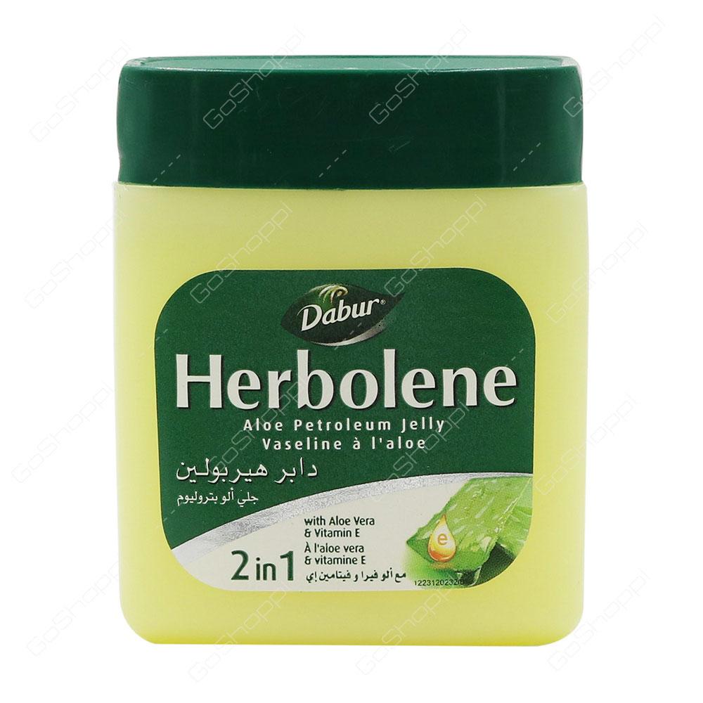 Dabur Herbolene Aloe Petroleum Jelly 2 In 1 With Aloe Vera And Vitamin E 115 ml