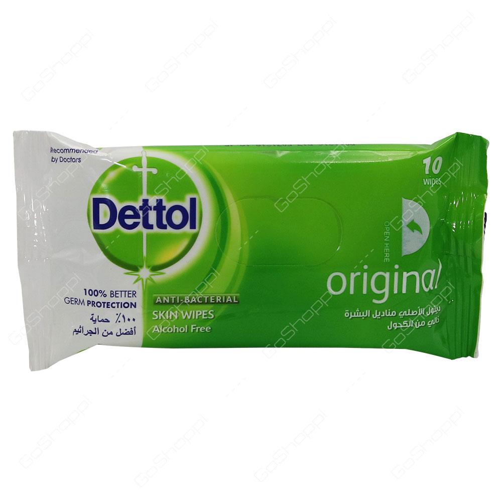 Dettol Original Anti Bacterial Skin Wipes 10 Wipes
