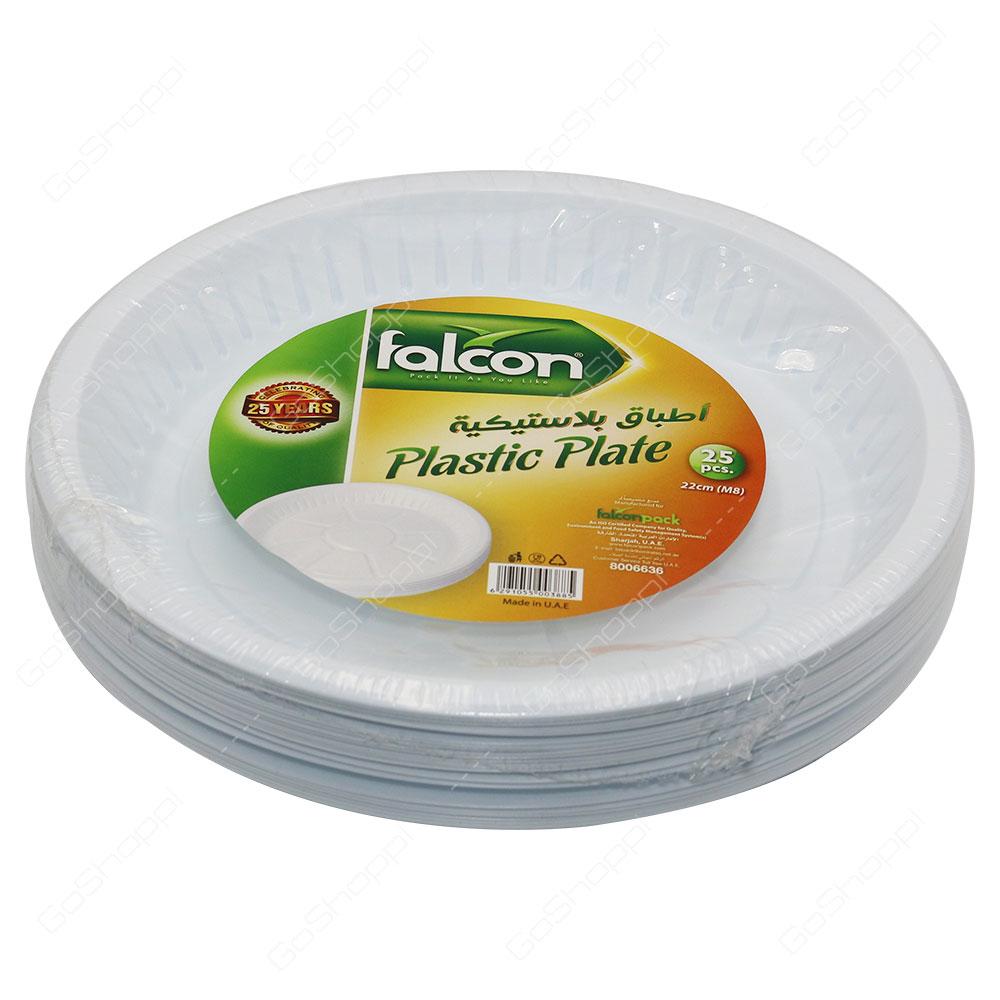 Falcon Plastic Plate 22cm 25 pcs