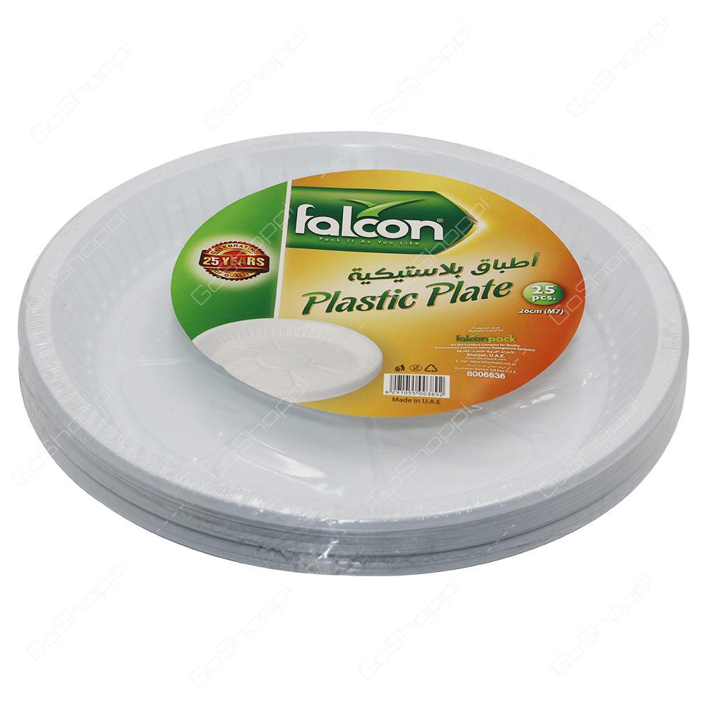 Falcon Plastic Plate 26cm 25 pcs