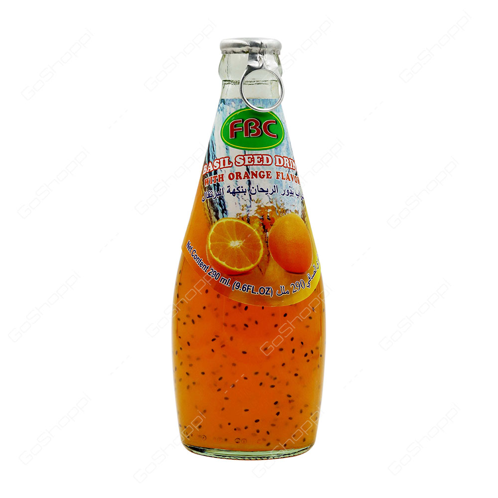 Fbc Basil Seed Drink With Orange Flavour 290 ml