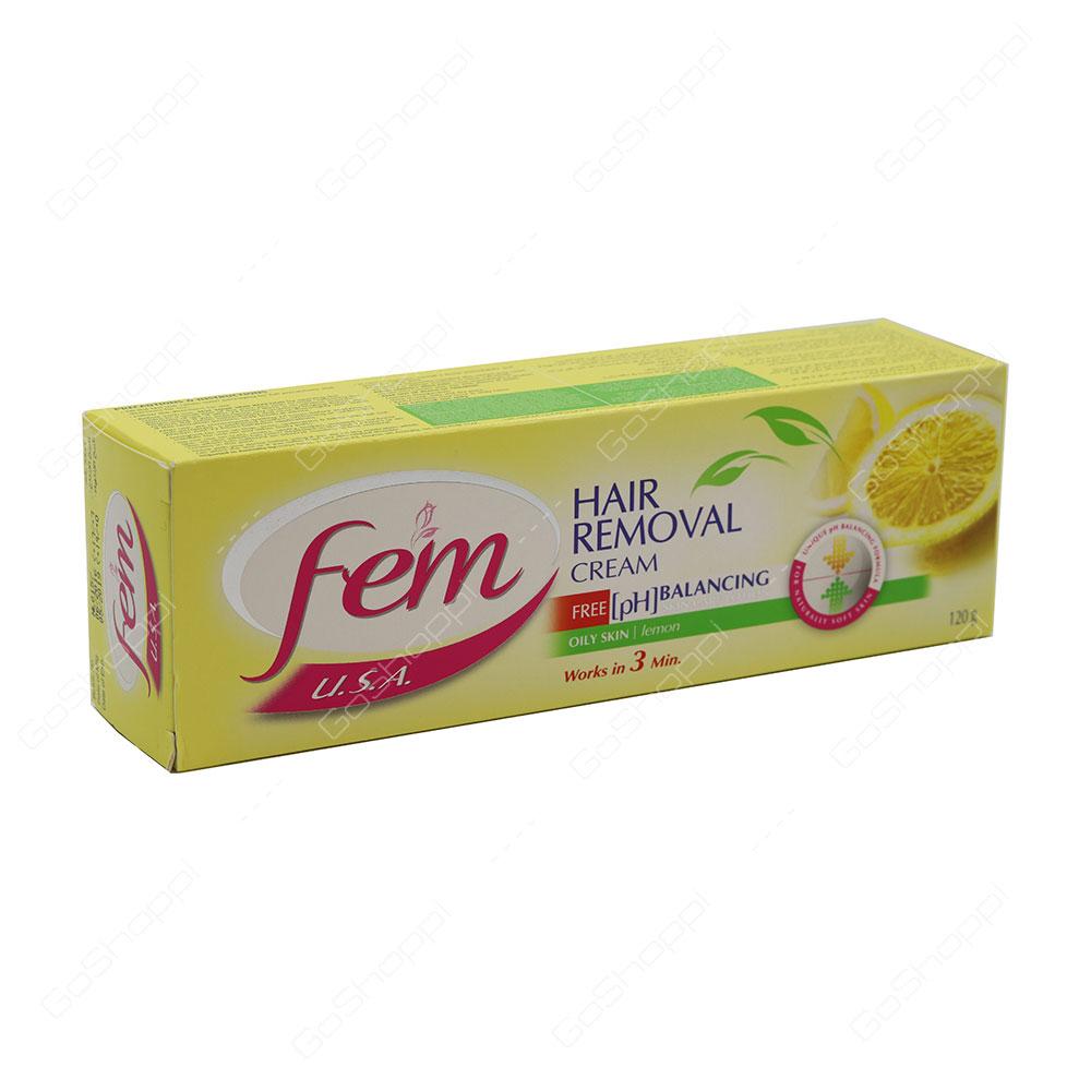Fem Hair Removal Cream Lemon 120 g