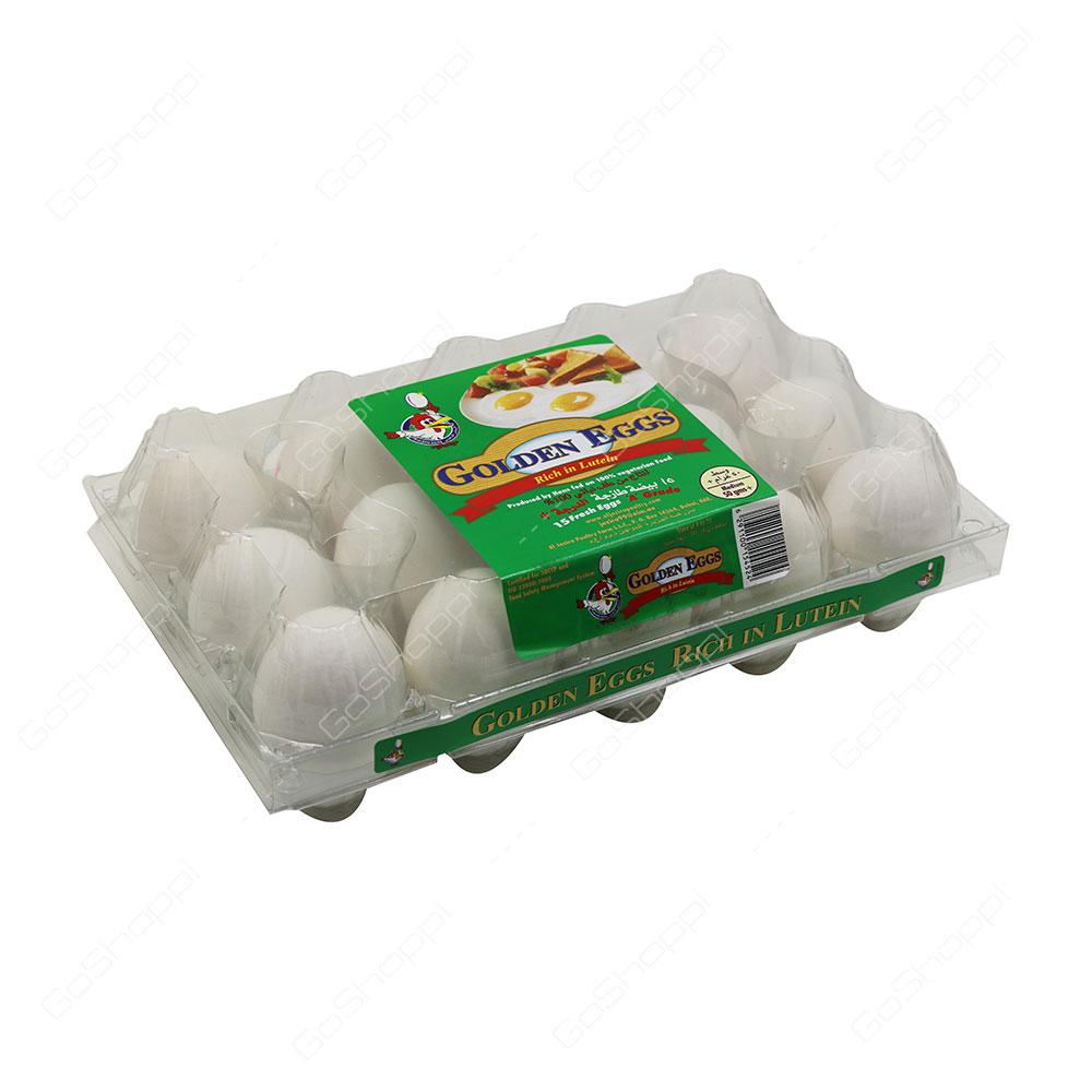 Golden Eggs White Eggs Medium 15 pcs