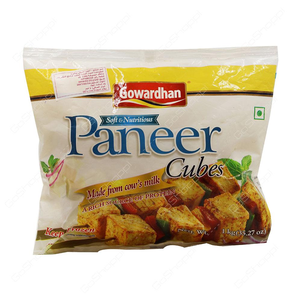 Gowardhan Paneer Cubes 1 kg
