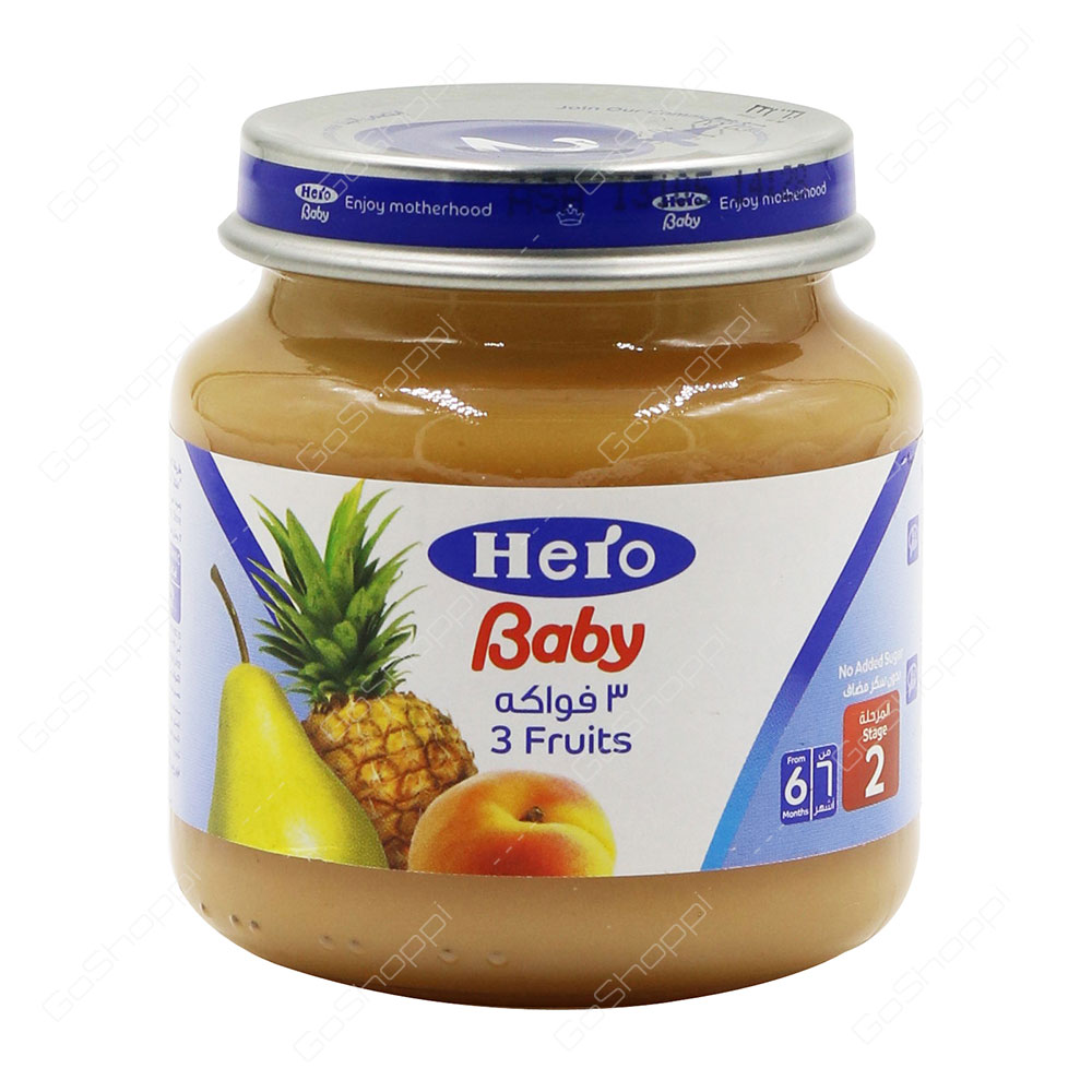 Hero Baby 3 Fruits Stage 2 130 g