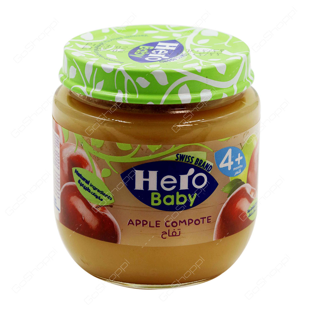 Hero Baby Apple Compote 4 Plus 125 g