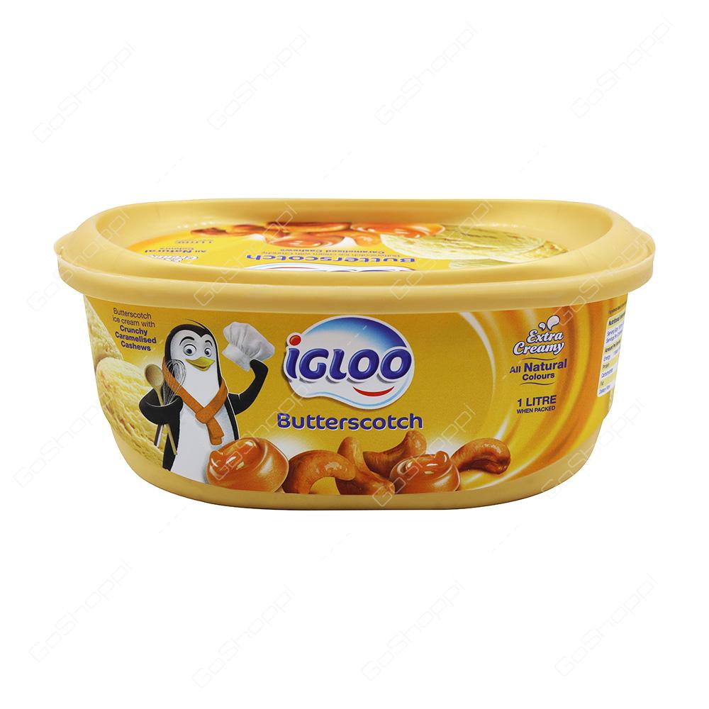 Igloo Butterscotch Icecream 1 l