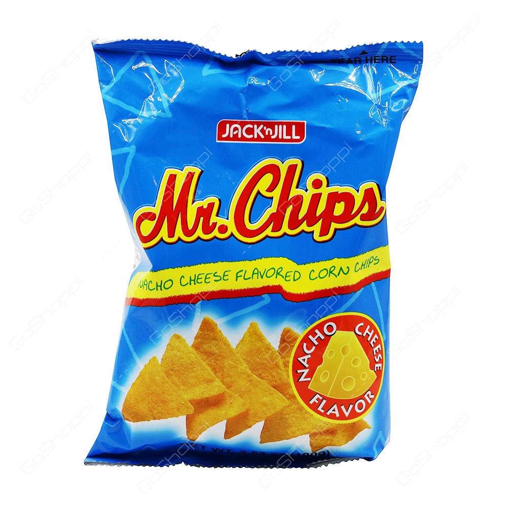 Jack n Jill Mr Chips Nacho Cheese Corn Chips 100 g