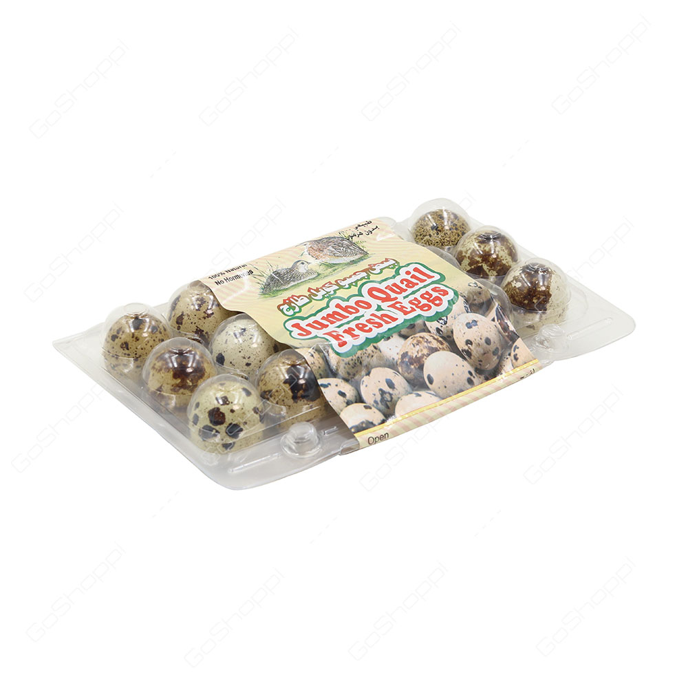 Jumbo Quail Fresh Eggs 15 pcs