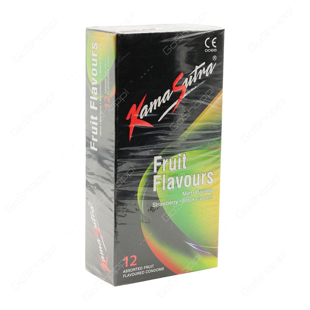 Kama Sutra Fruit Flavours Condoms 12 pcs