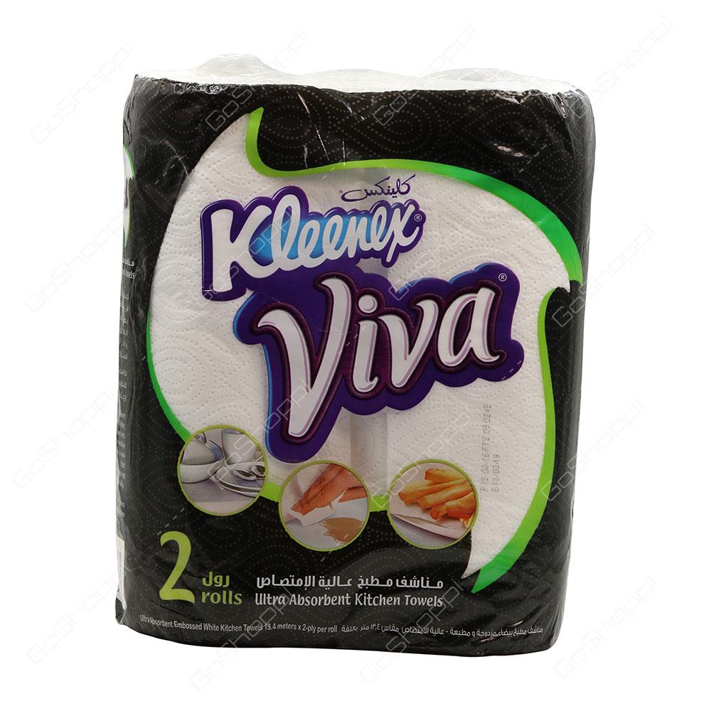 Kleenex Viva Ultra Absorbent Kitchen Towels 2 Rolls
