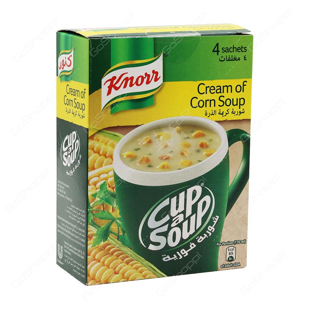 Knorr Cup a Soup Cream of Corn Soup 4 Sachets