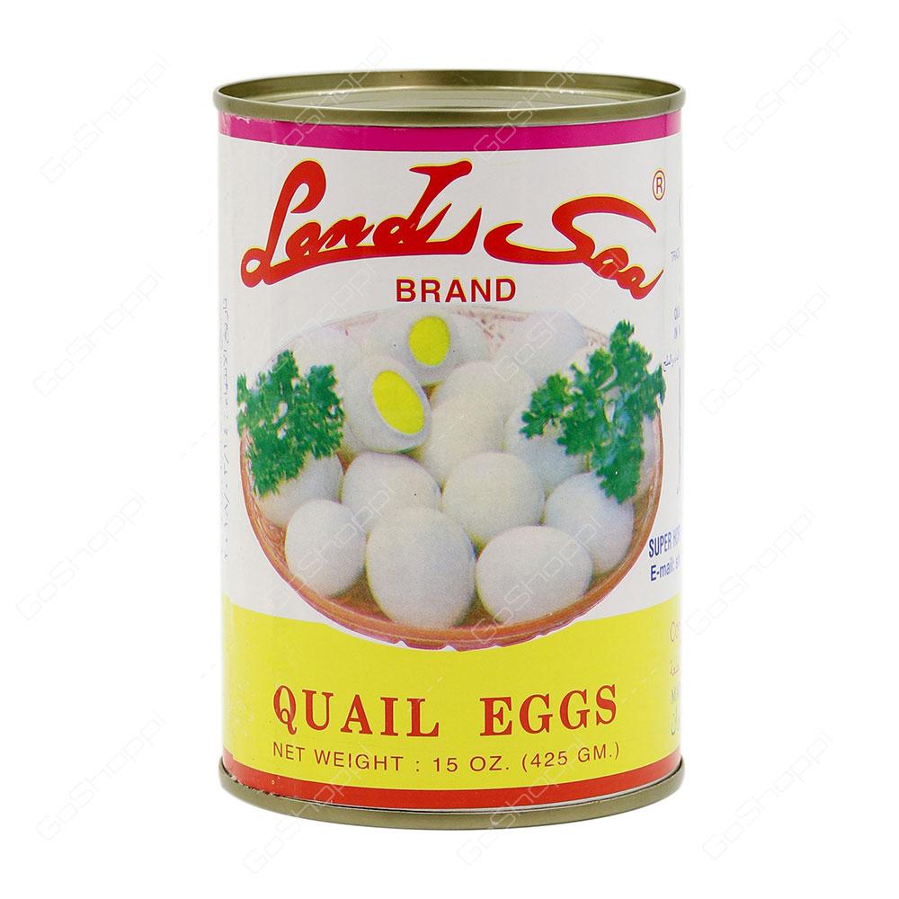 Land Sea Brand Quail Eggs 425 g