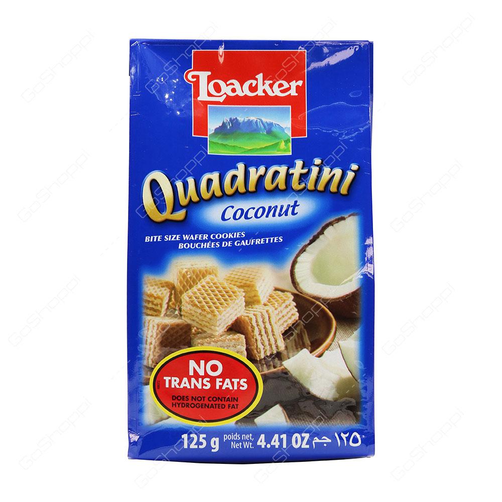 Loacker Quadratini Coconut Bite Size Wafer Cookies 125 g