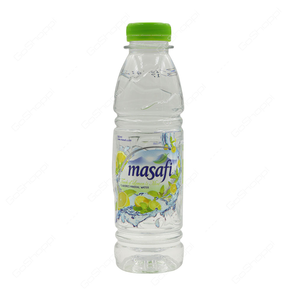 Masafi Lemon and Mint Flavored Mineral Water 500 ml