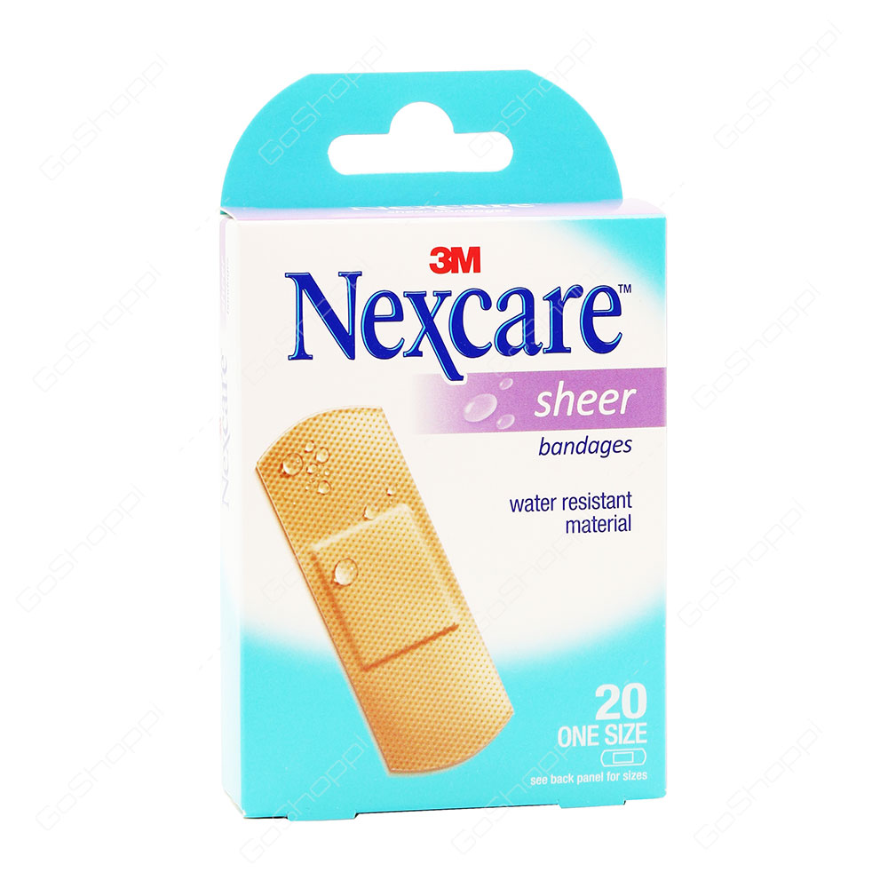 Nexcare Sheer Bandages 20 Strips