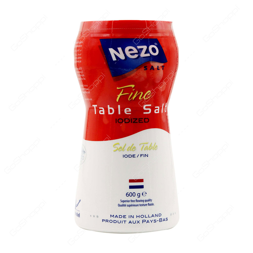 Nezo Fine Table Salt Iodized 600 g