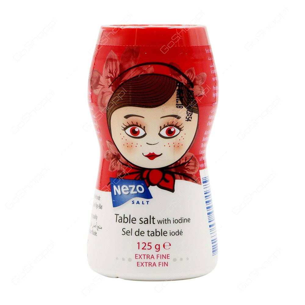 Nezo Table Salt With Iodine Extra Fine 125 g