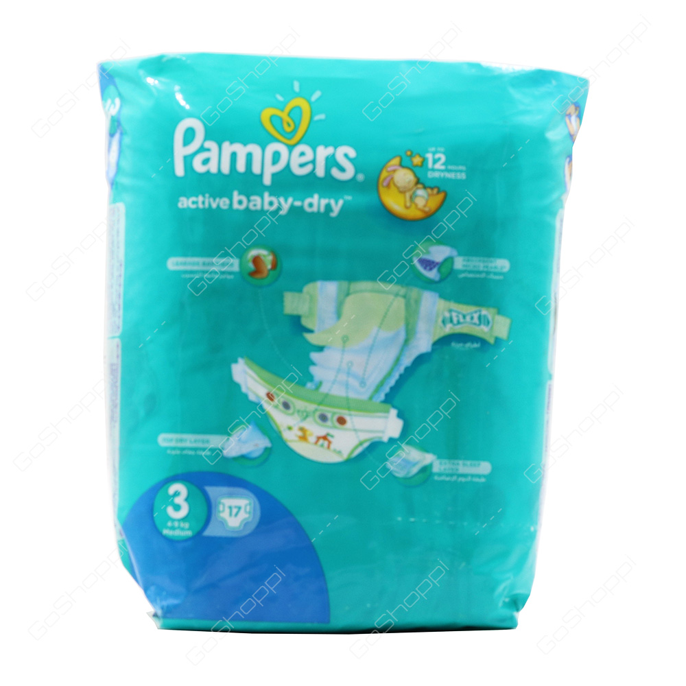Pampers Active Baby Dry Diapers Size 3 17 Diapers